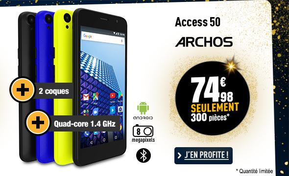 Smartphone ARCHOS Acess 50 SmartColor 4G + 2 coques