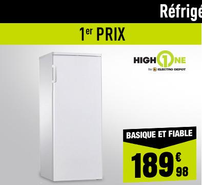 RÉFRIGÉRATEUR 1 PORTE HIGH ONE 1D 235 A+ WMEC